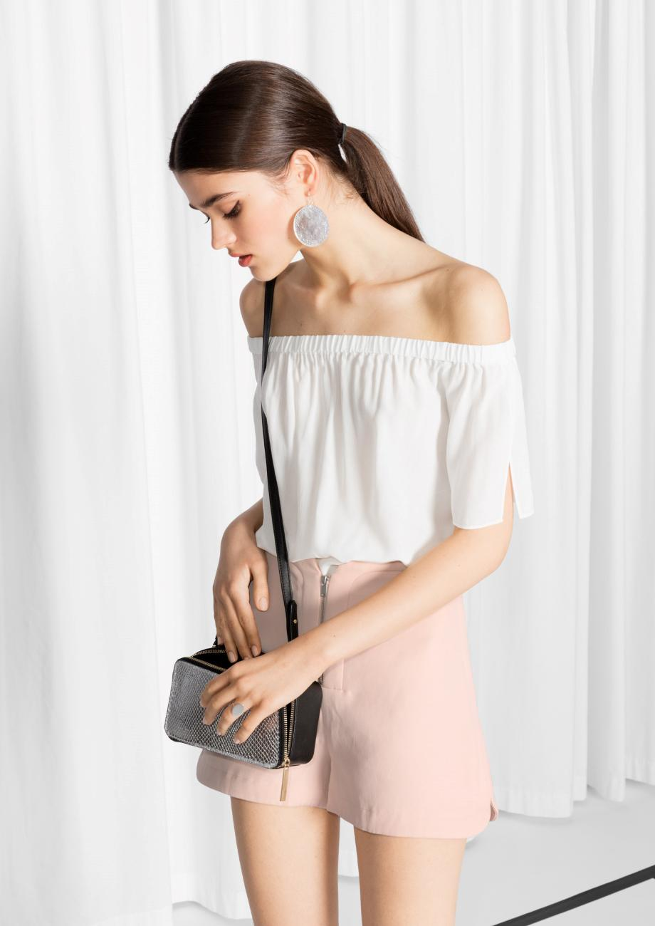 36eb1d4e69da8   Other Stories Flowy Off-shoulder Top in White - Lyst