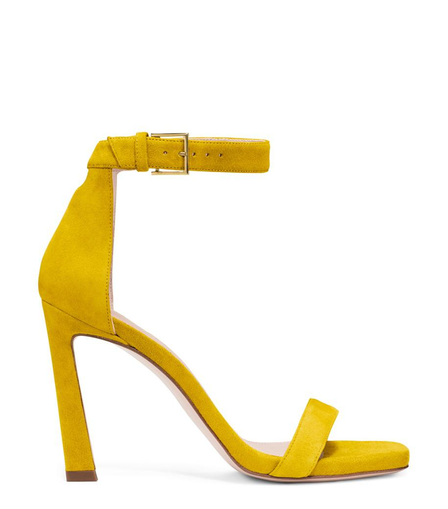 6121145174c Lyst - Stuart Weitzman The 100squarenudist Sandal in Yellow