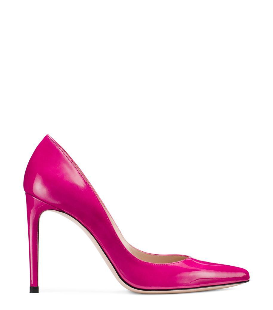 Stuart Weitzman Women's Curvia Textured High-Heel Pumps RJxLO