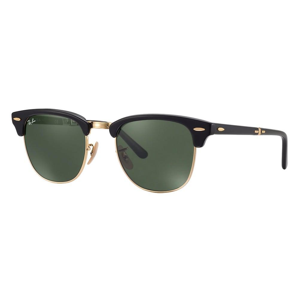 3d64ac1a0b Ray-Ban Black Clubmaster Foldable Sunglasses - Classic G15 Lenses in ...