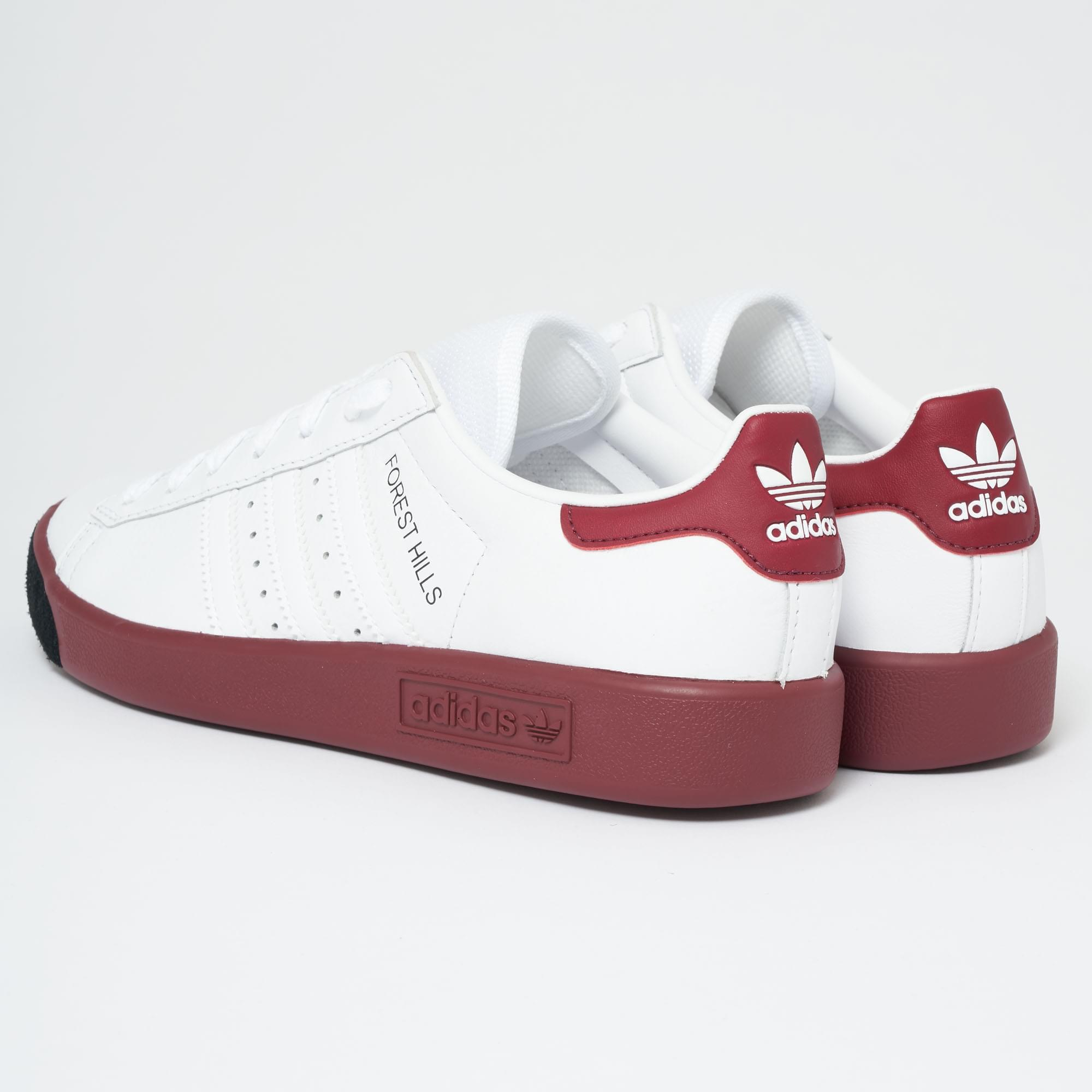 adidas forest hills white red