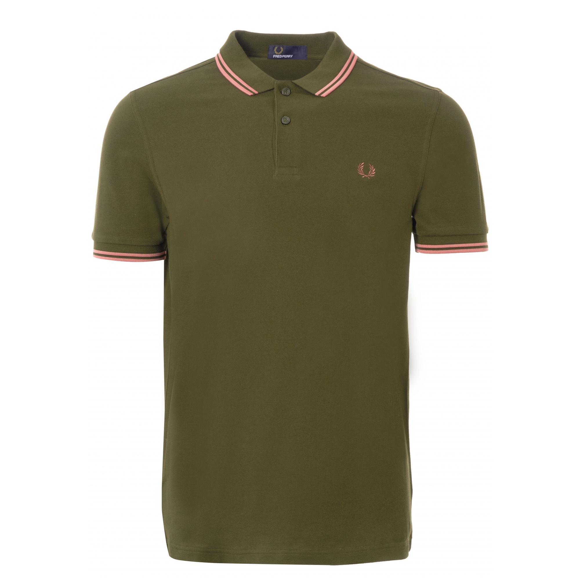 9d8255155 Fred Perry Authentic M3600 Twin Tipped Polo Shirt - Hunting Green in ...