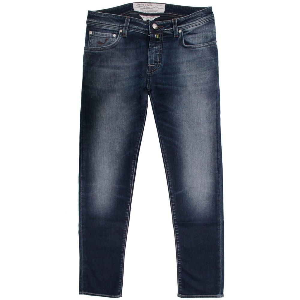 Jacob cohen pw625 mid blue denim jeans in blue for men - Jacob cohen denim ...
