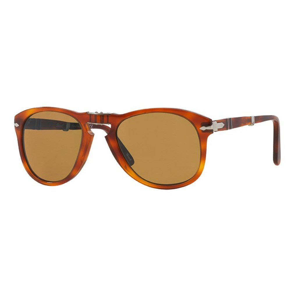 a3deba0fc16d5 Persol 714 Foldable Brown Sunglasses 0po0714 52  in Brown for Men - Lyst