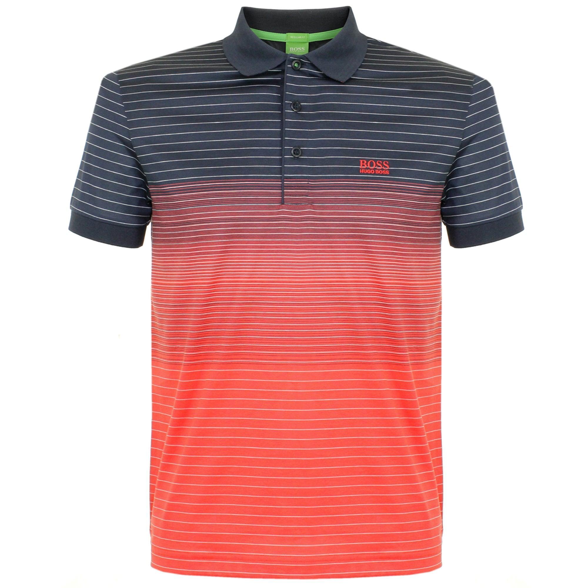 0046ef26 BOSS Green Hugo Boss Paddy 3 Open Red Polo Shirt for Men - Lyst