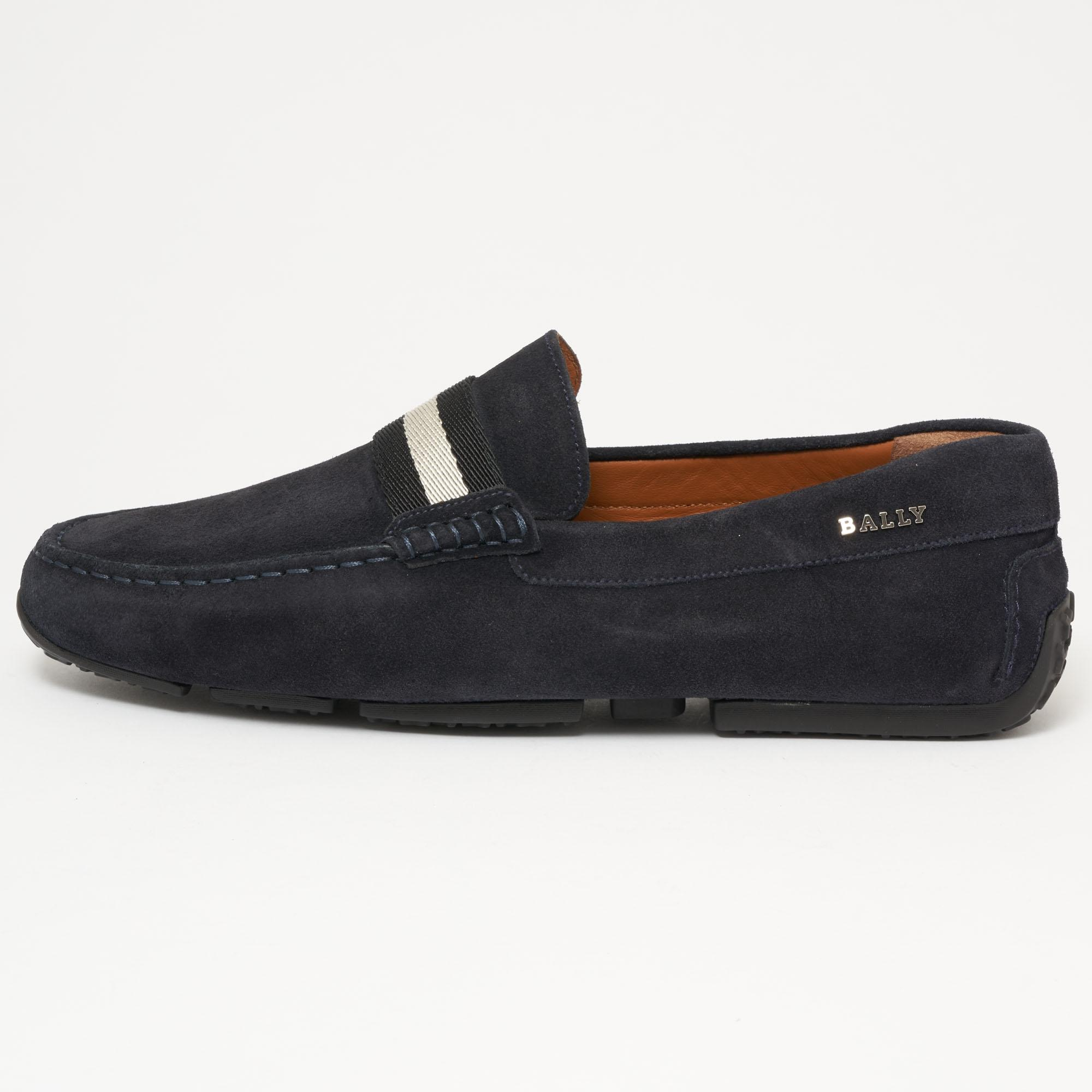 5f53d5fdcb5 Bally - Pearce Suede Driver - Blue Navy for Men - Lyst. View fullscreen