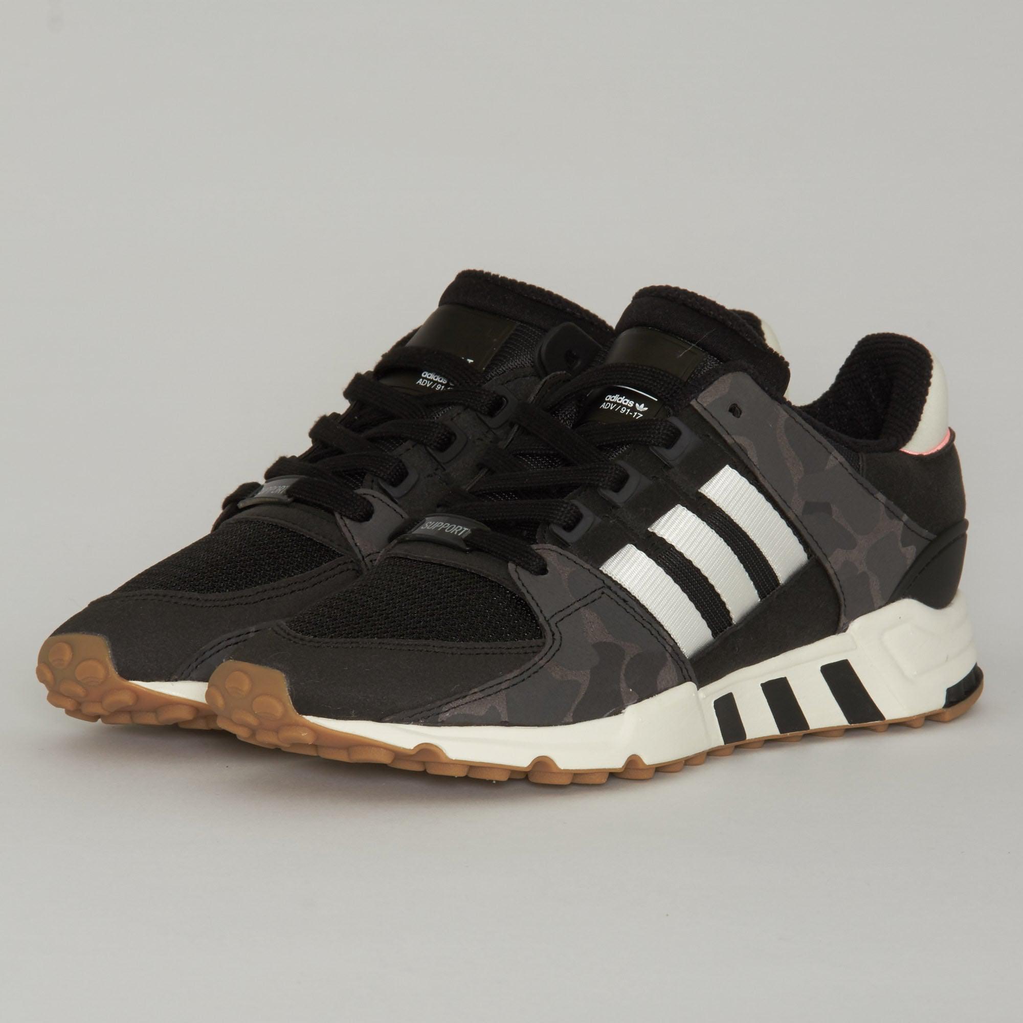 best cheap 6fa70 af88c Lyst - adidas Originals Adidas Eqt Support Rf Black Shoes in