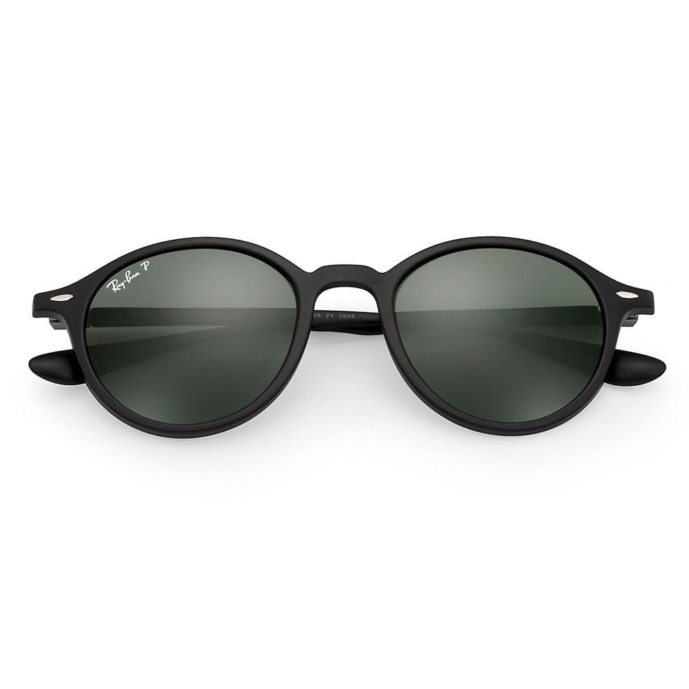 52750efcd14 Ray-Ban - Black Round Liteforce Sunglasses - Polarised Green Classic G-15  Lenses. View fullscreen