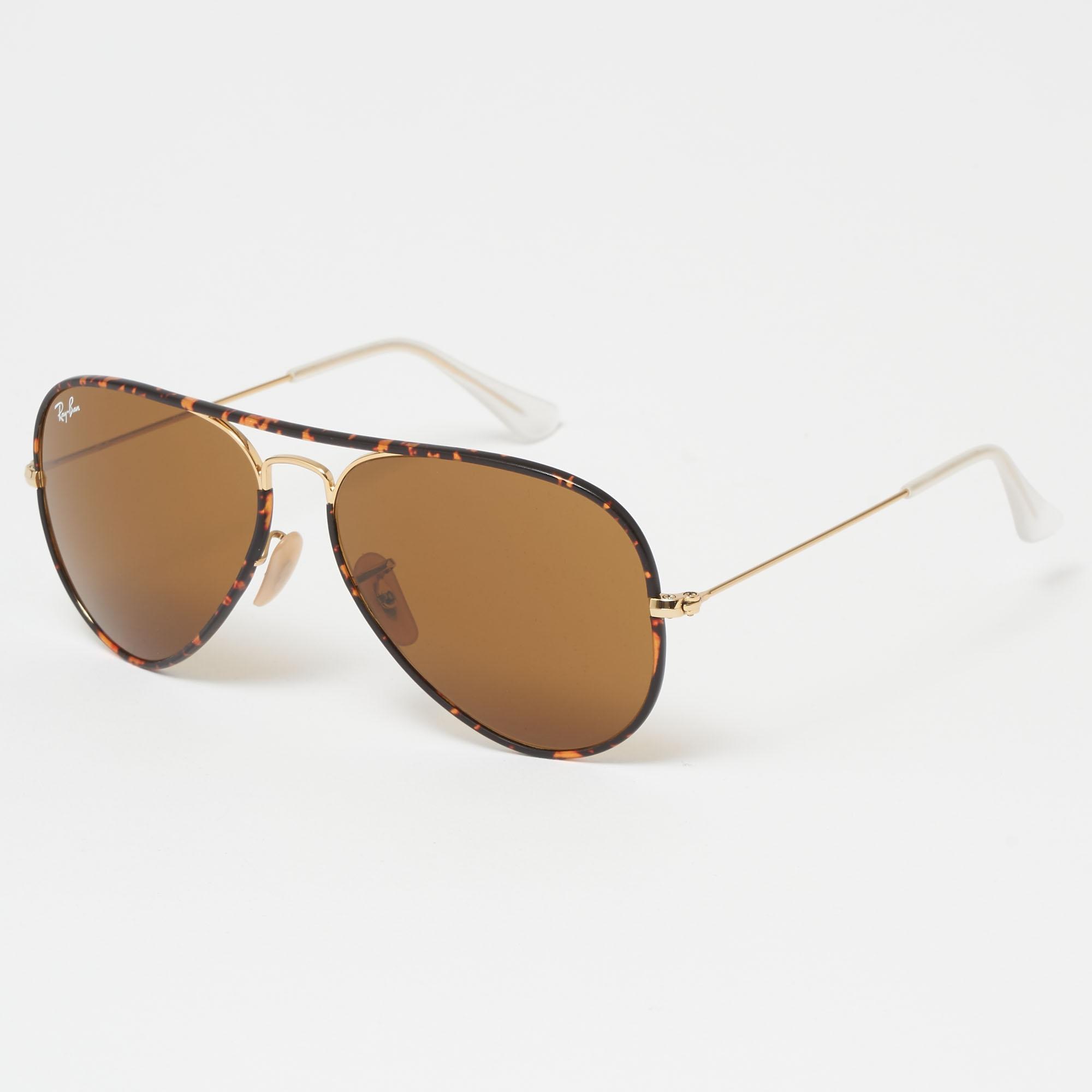 5170dc1378 Ray-Ban Tortoise Aviator Full Colour Sunglasses - Brown Classic B-15 ...
