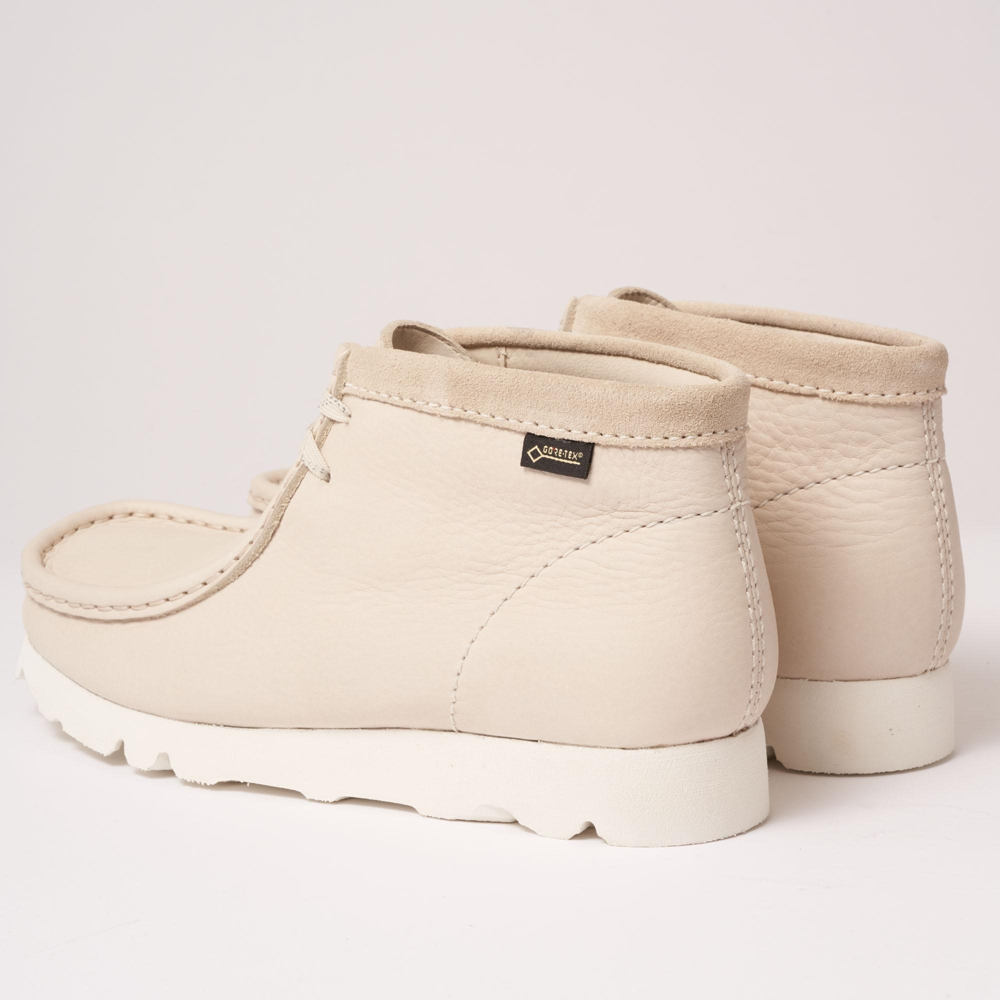 Lyst Clarks Wallabee Boot Gore Tex Off White Nubuck In White For