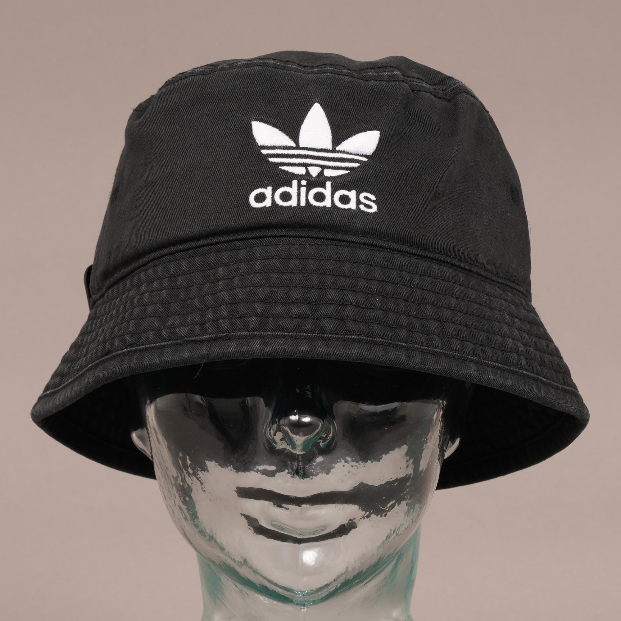 52459a71145 Adidas Originals - Trefoil Bucket Hat - Black for Men - Lyst. View  fullscreen