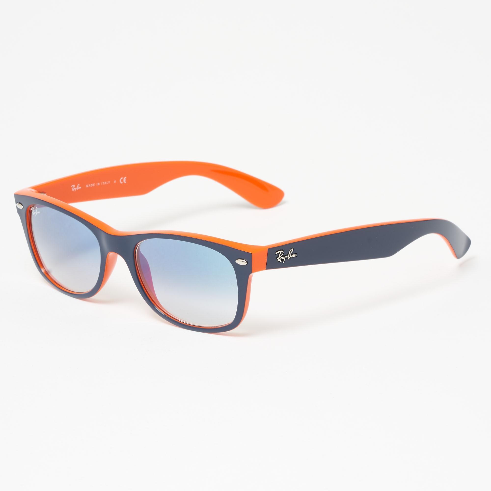 8208350c1 ... official ray ban. mens blue orange new wayfarer 9ae0a 5febb ...