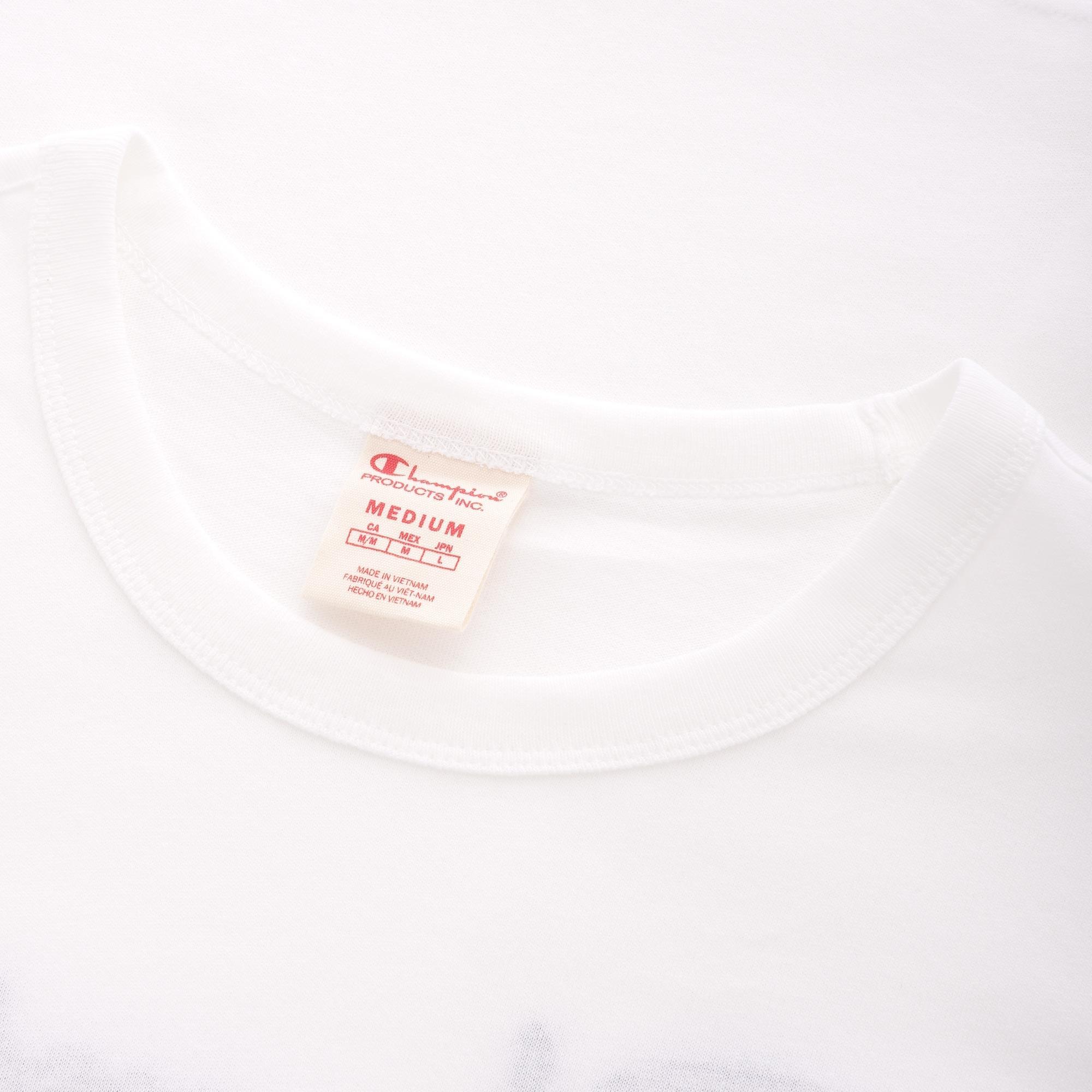 84954159 Champion - Script Logo Back Crew Neck T-shirt - White for Men - Lyst. View  fullscreen