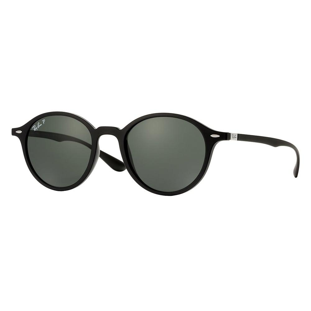 d6286a34101 Ray-Ban. Men s Black Round Liteforce Sunglasses - Polarised Green Classic G-15  Lenses