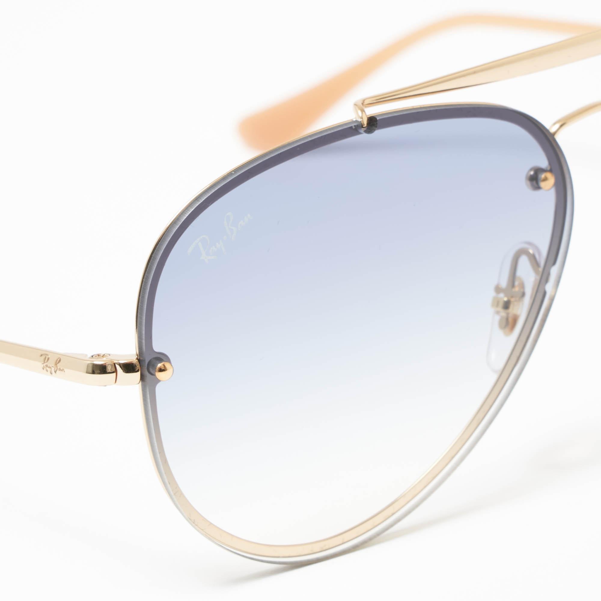 8829102d0b0 Ray-Ban - Metallic Gold Blaze Aviator Sunglasses - Light Blue Gradient  Lenses for Men. View fullscreen