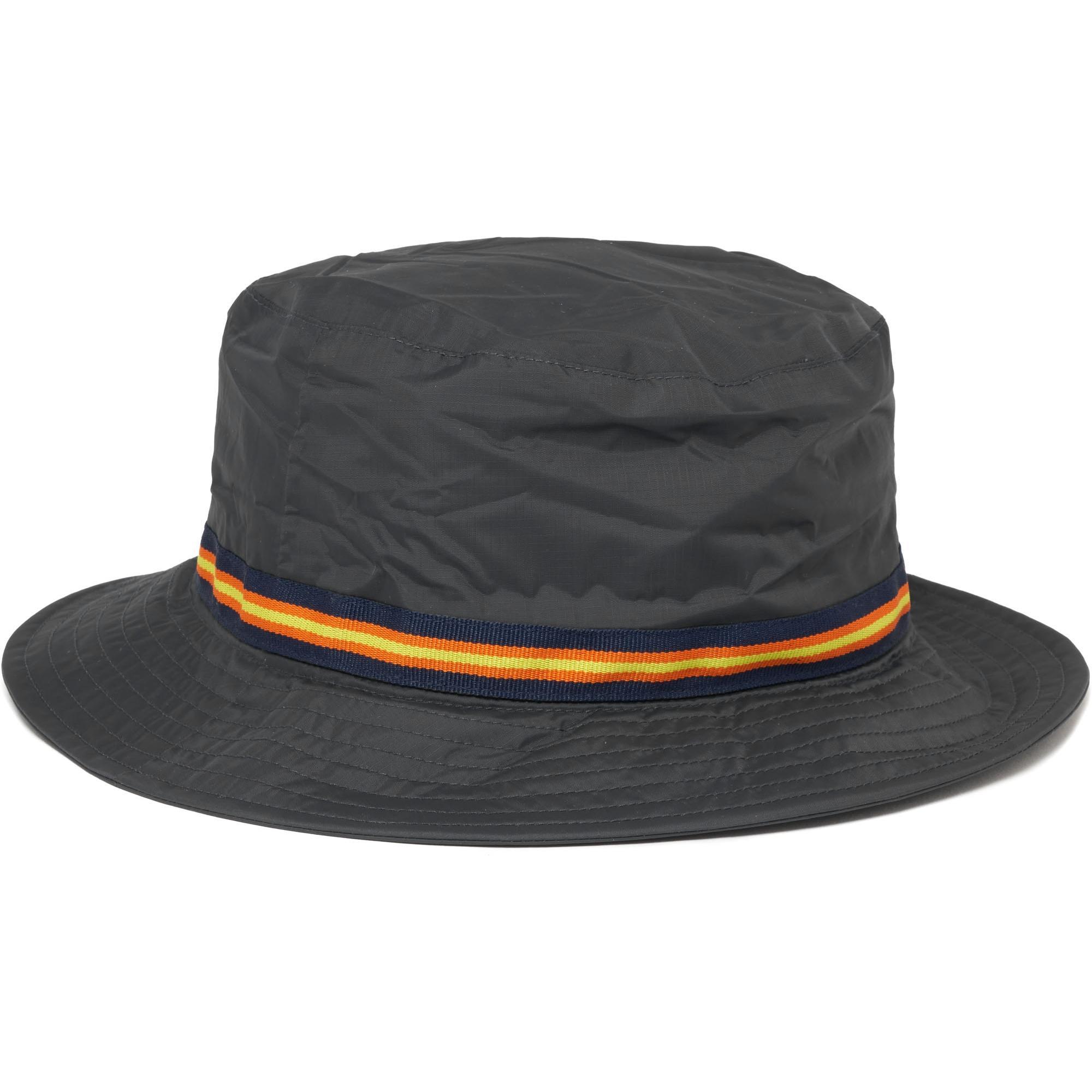 75d192fd5ac Lyst - K-Way Black Le Vrai Pascal 3.0 Packable Bucket Hat in Black ...