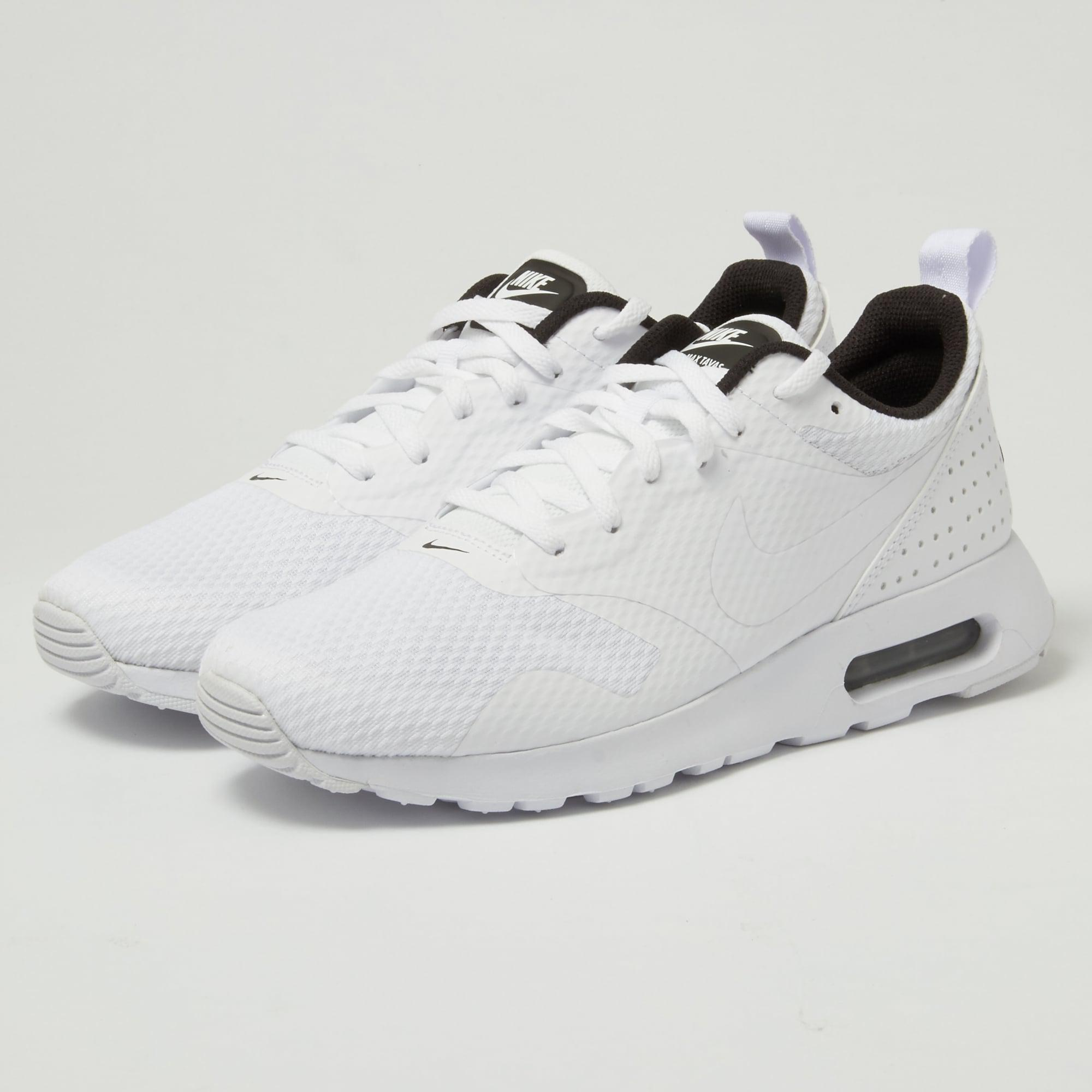 ab69501f Nike Air Max Tavas White Shoe in White for Men - Lyst