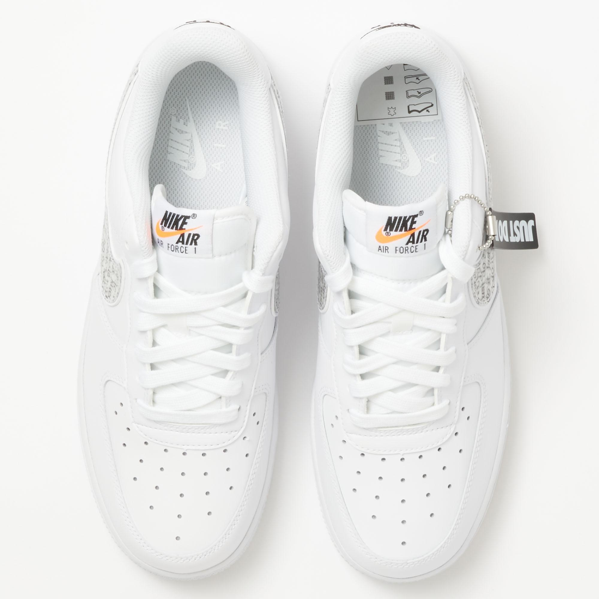 ca7f1499ce7f Lyst - Nike Air Force 1  07 Lv8  just Do It  Lntc - White