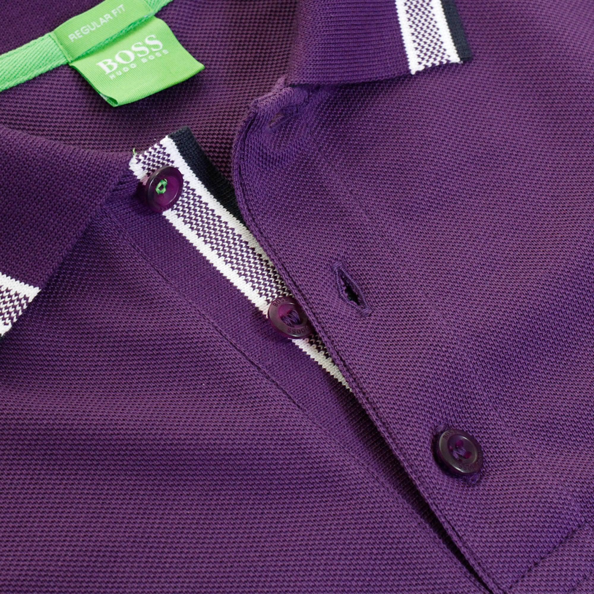 d31f2f988 Lyst - BOSS Green Hugo Paddy Dark Purple Polo Shirt in Purple for Men