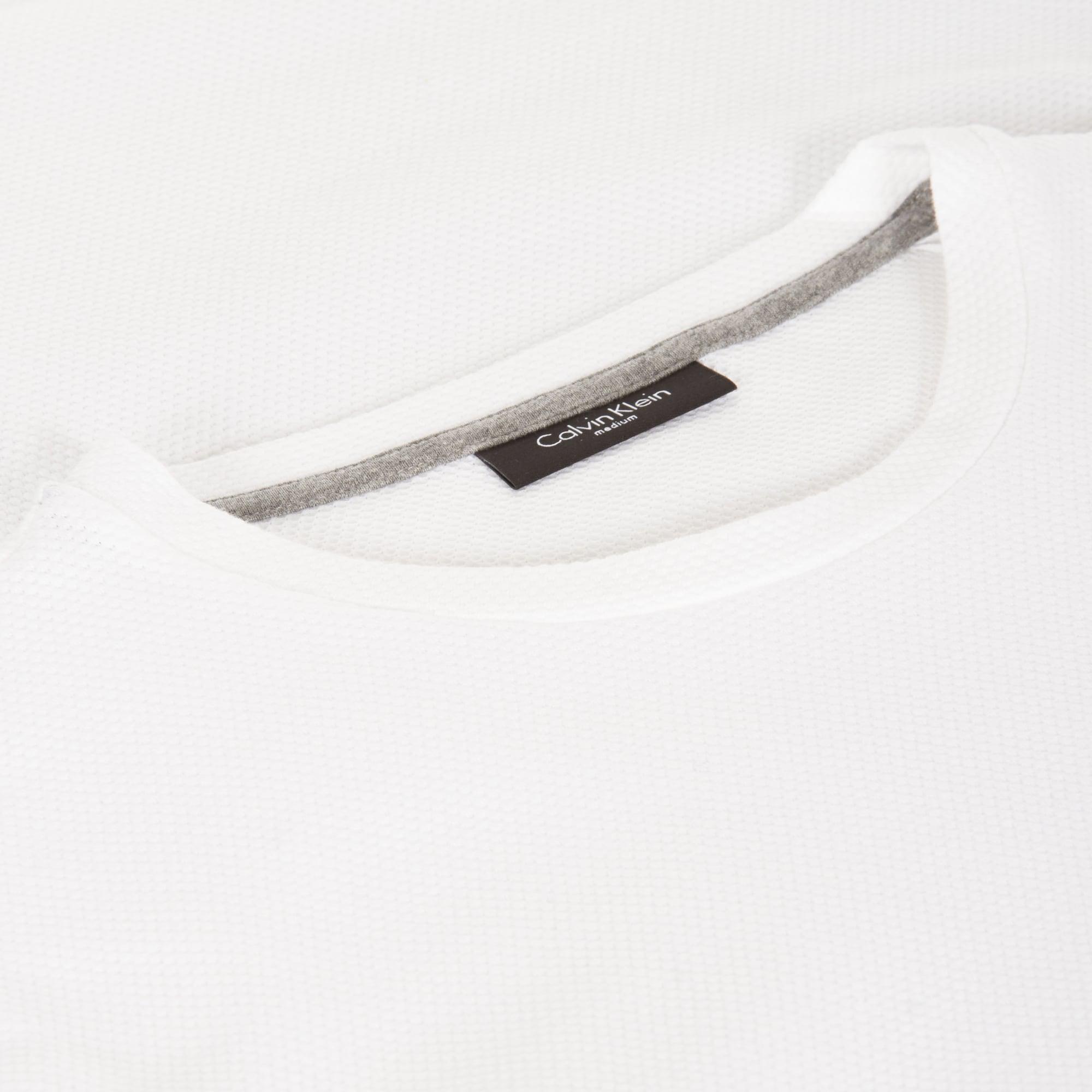 6e6953c10e97 Calvin Klein Jasme Mesh Jersey White T-shirt in White for Men - Lyst