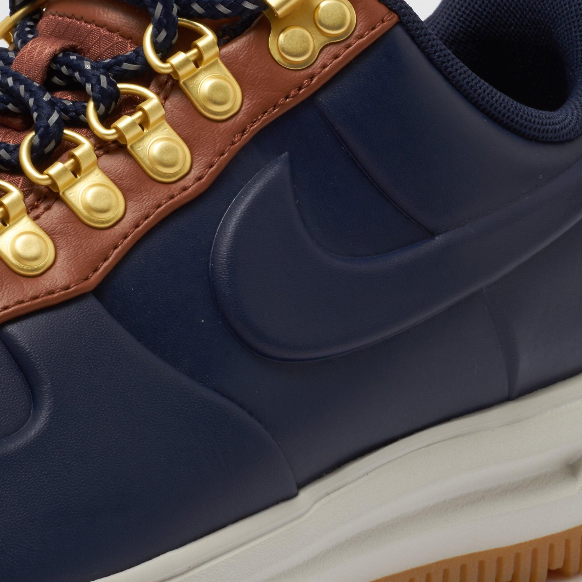 newest 7600c 92c64 Nike Lunar Force 1 Duckboot Low - Obsidian   Saddle Brown in Blue ...