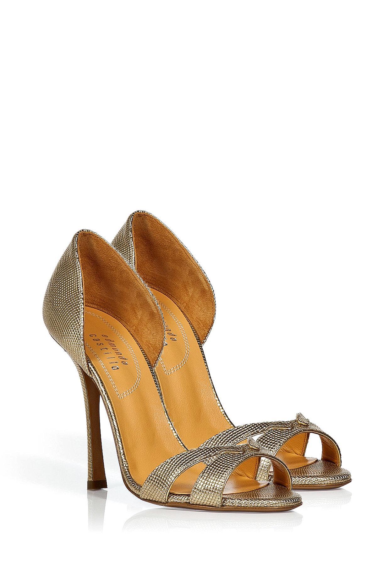 outlet pick a best outlet big sale Edmundo Castillo Metallic Leather Sandals oGlSy