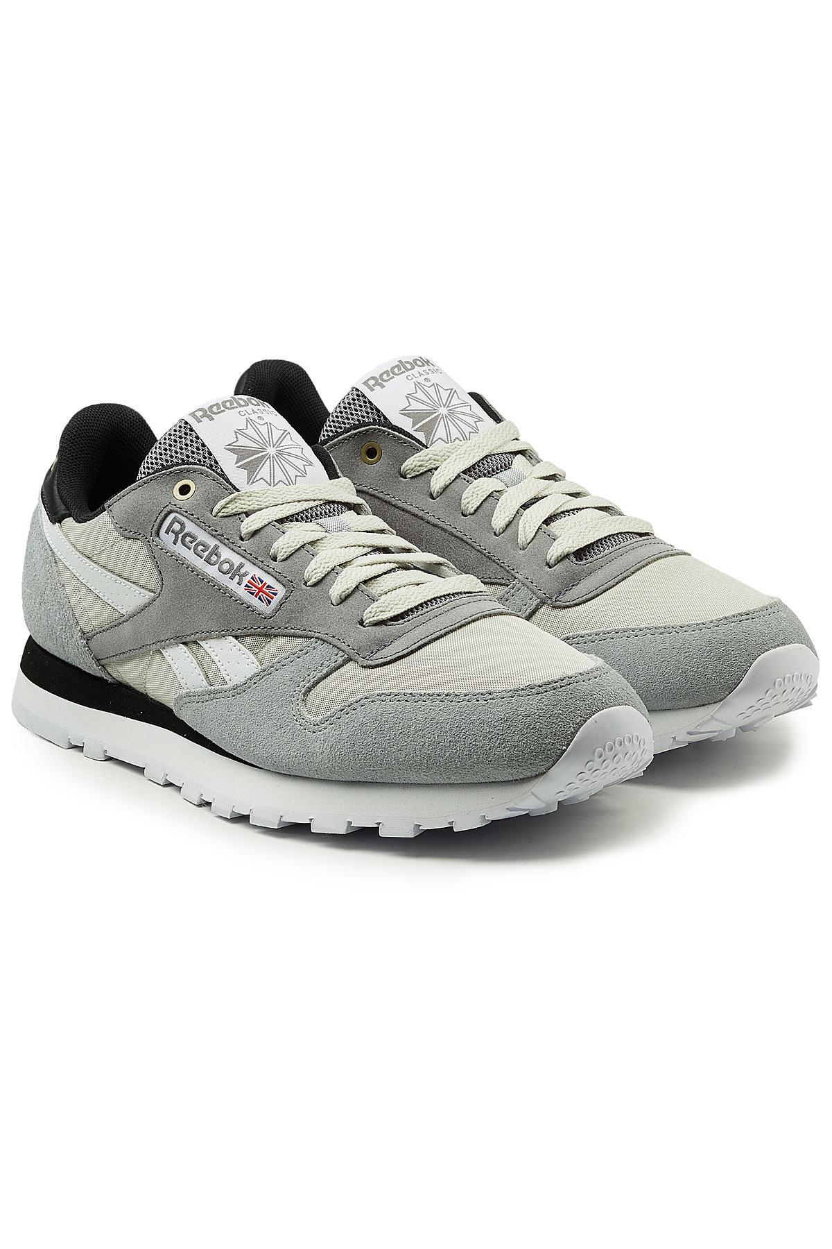 Reebok. Men s Gray Classic Trainers With Leather 41c66b8a0