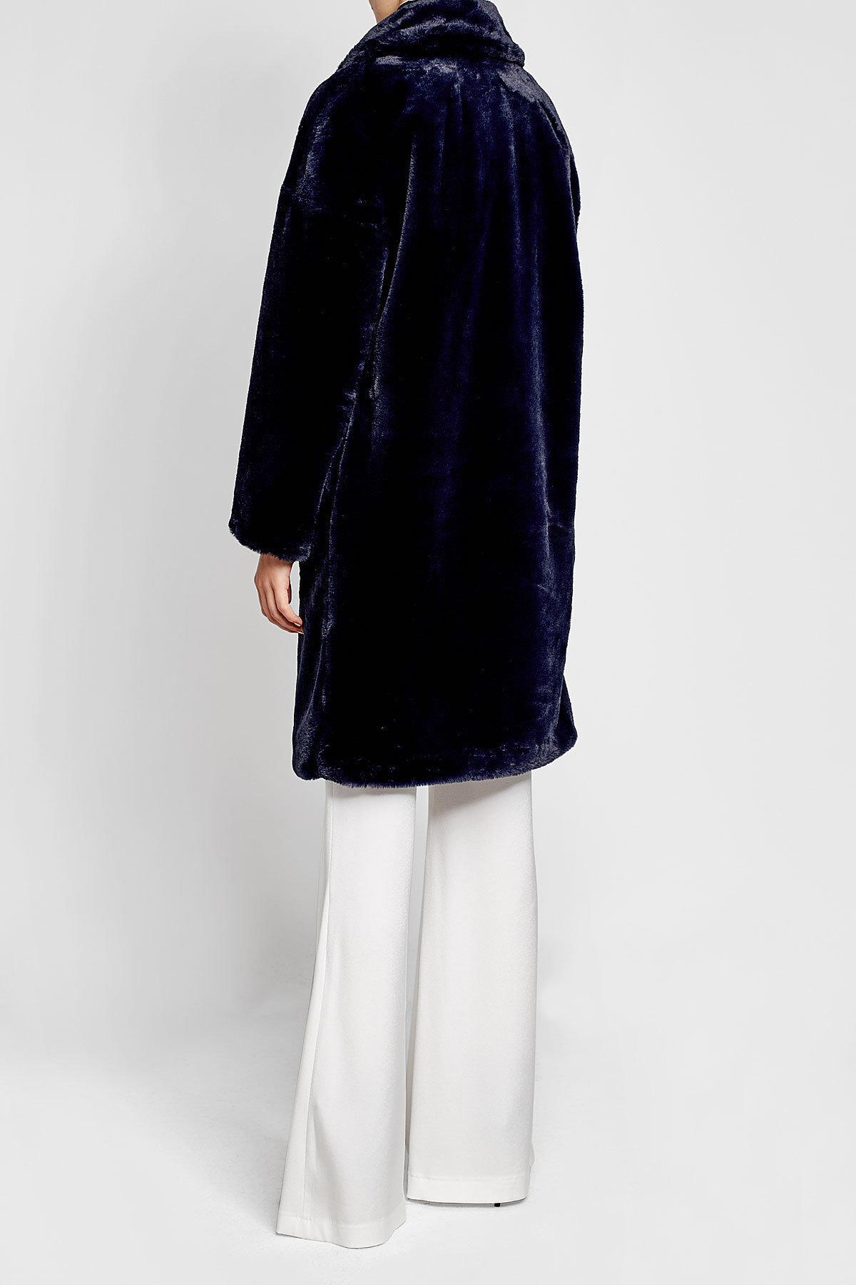 3ca1f08d07 Lyst - Tara Jarmon Faux Fur Coat in Blue