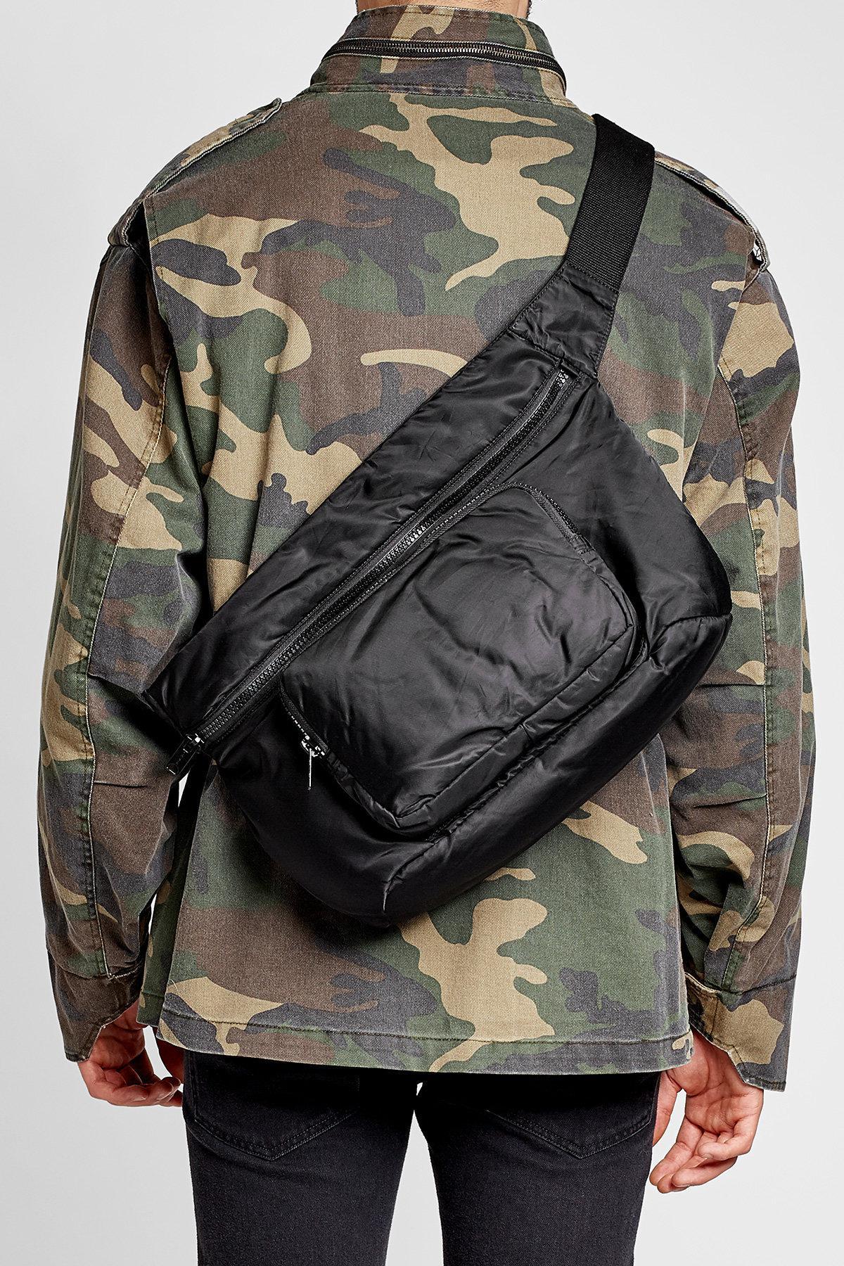 2307fc01b Yeezy Fabric Waist Bag in Black for Men - Lyst