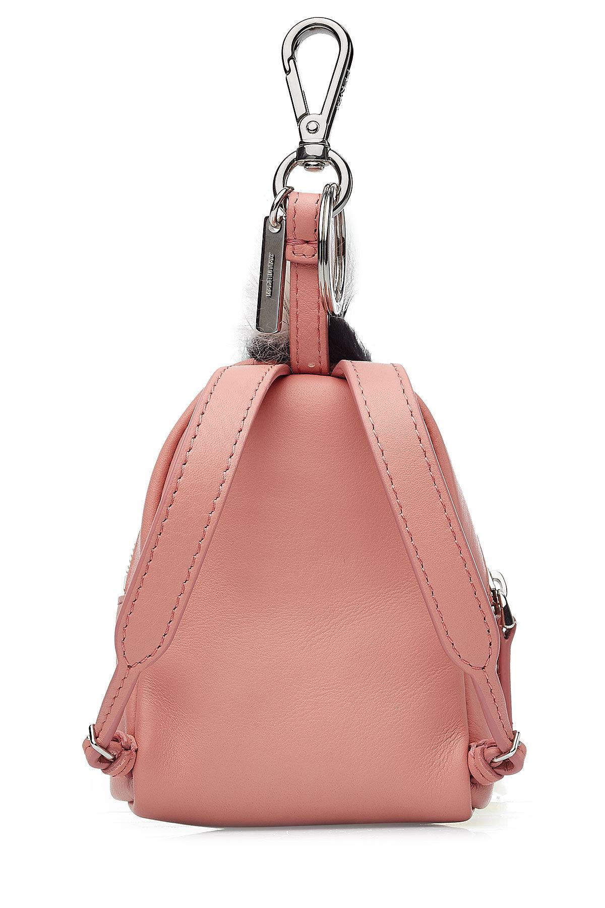 cddfa913a118 Fendi - Multicolor Leather Backpack Charm With Fox Fur - Lyst. View  fullscreen