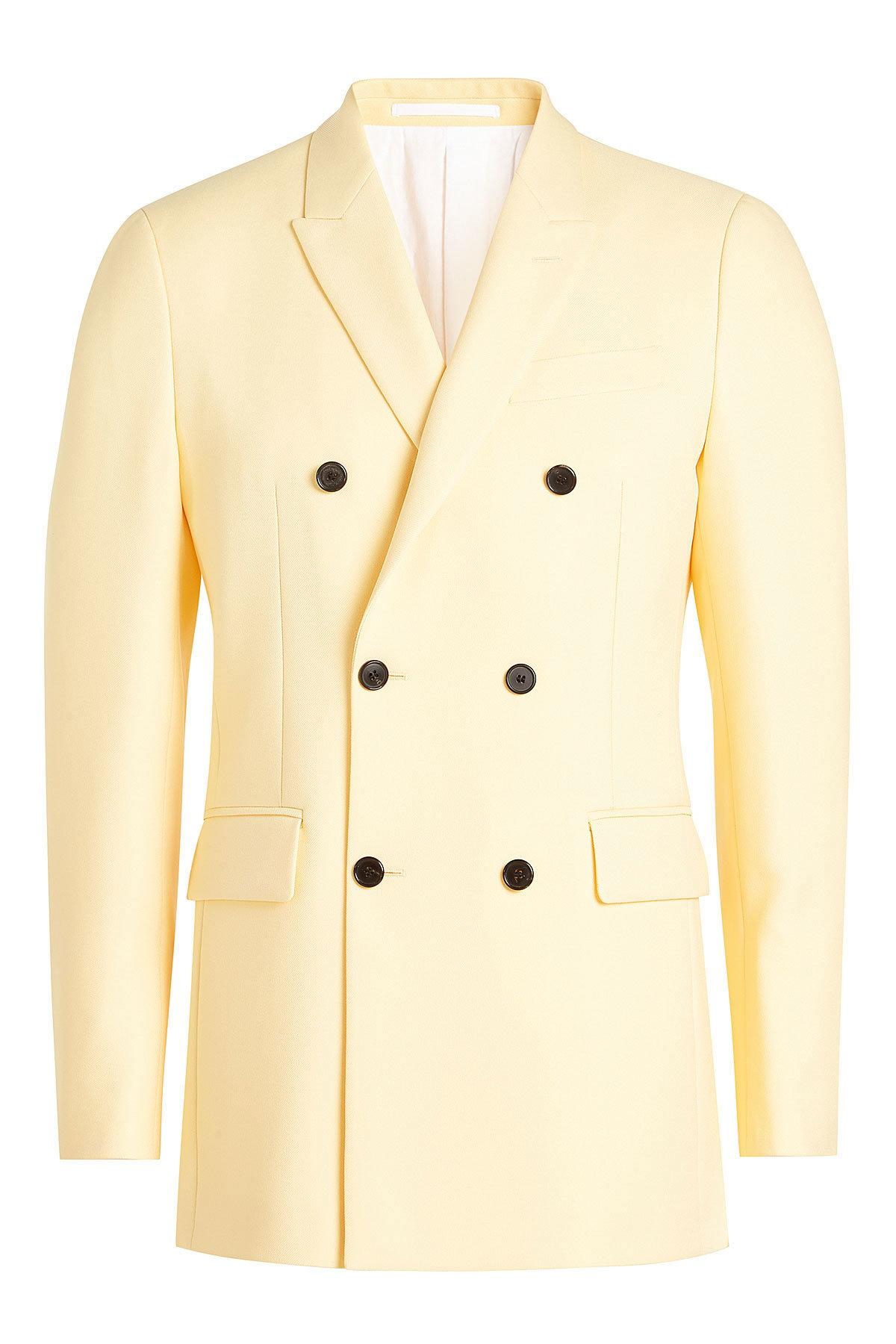 65c804cbb339 CALVIN KLEIN 205W39NYC Double Breasted Blazer in Natural for Men - Lyst
