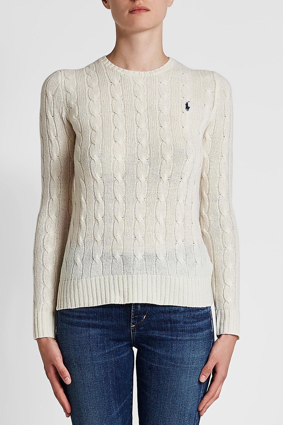 Lyst - Pull à col rond en laine et cachemire Polo Ralph Lauren 1f56ed3408e