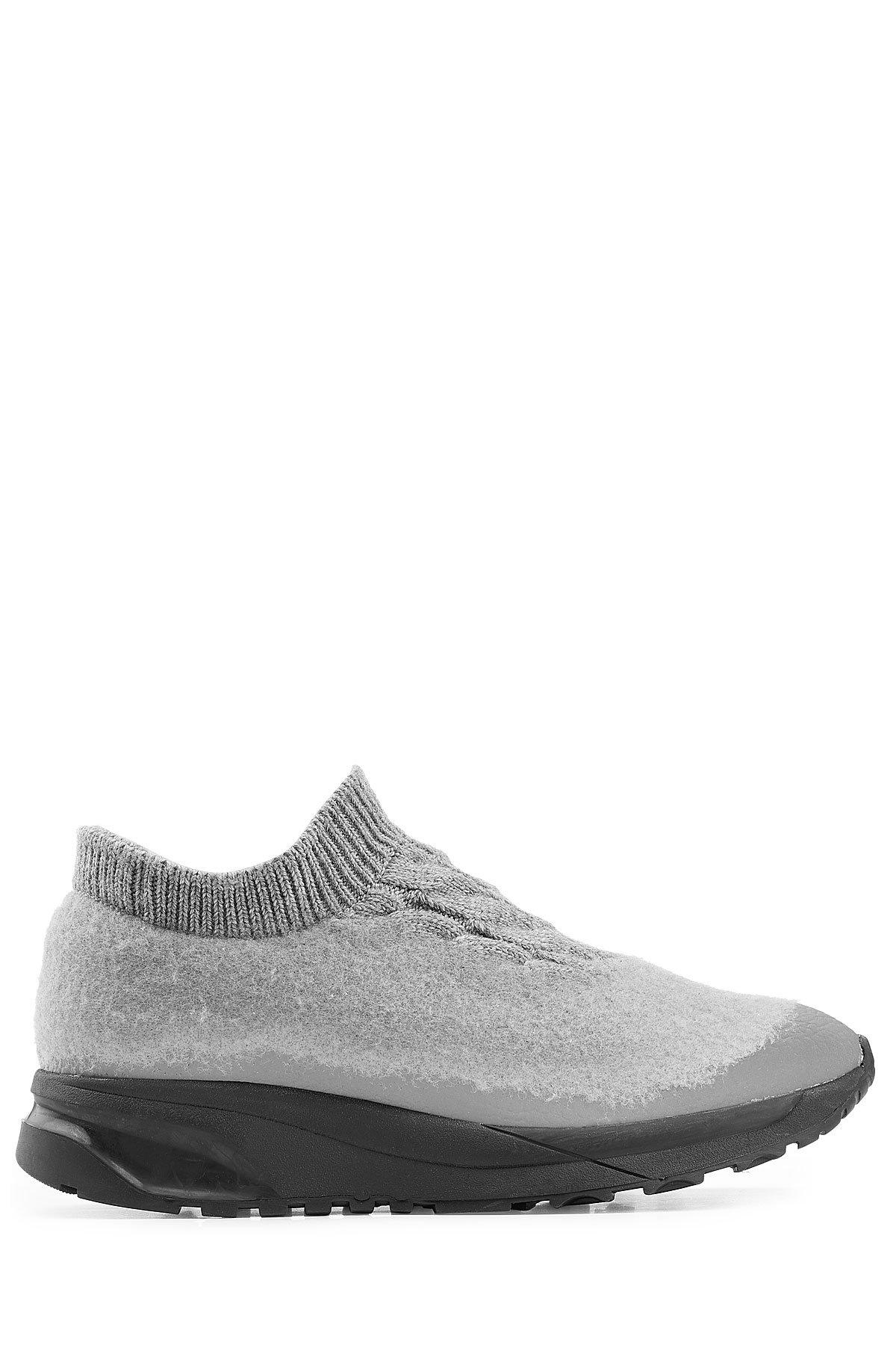 Lyst - Maison Margiela Knit Sneakers in Gray bb76525423