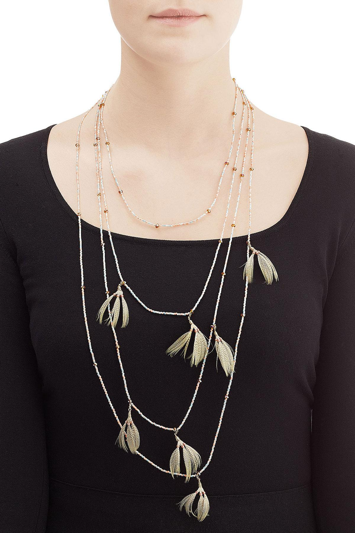 Bead-embellished necklace Valentino T3npo4ch