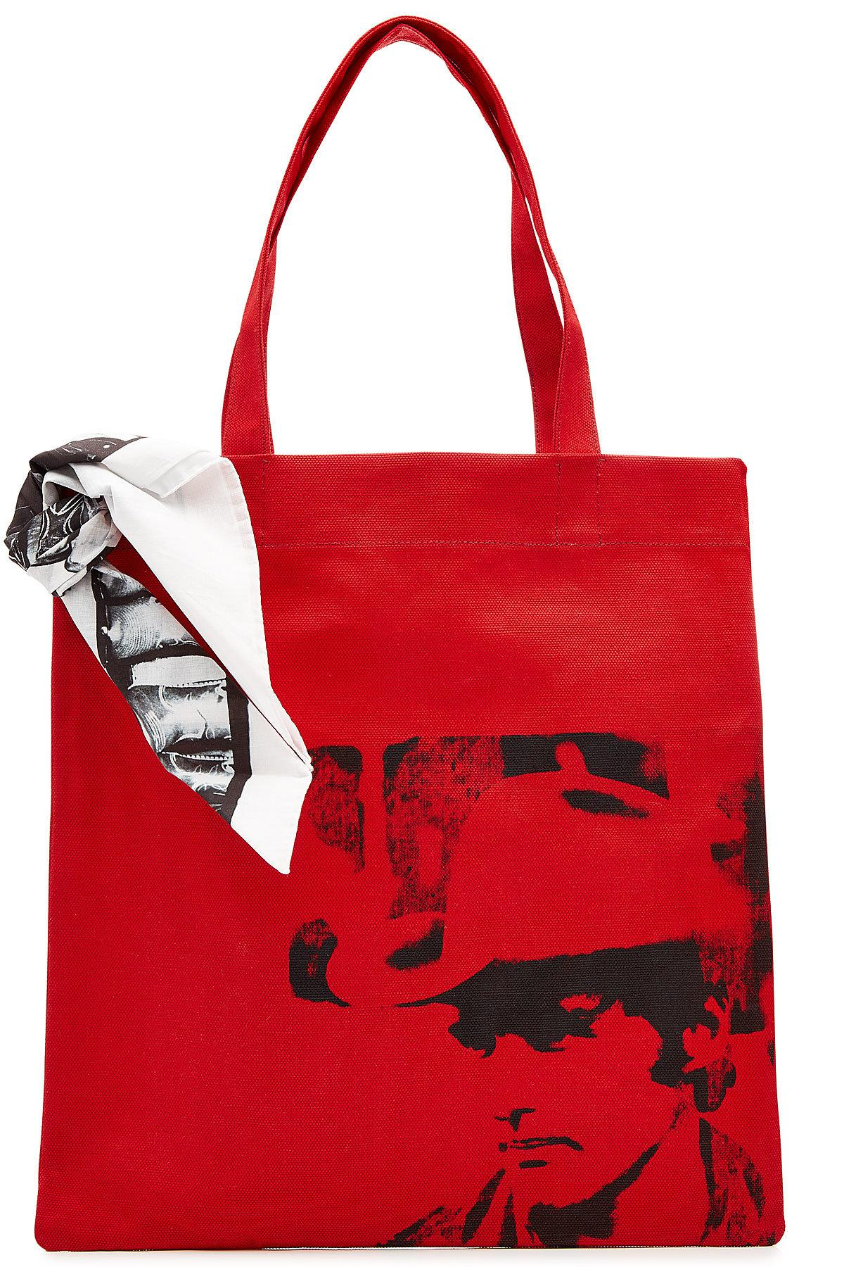 CALVIN KLEIN 205W39NYC Calvin Klein 205W39NYC x Andy Warhol Little Electric Chair tote bag - Red Ivxszapoxx