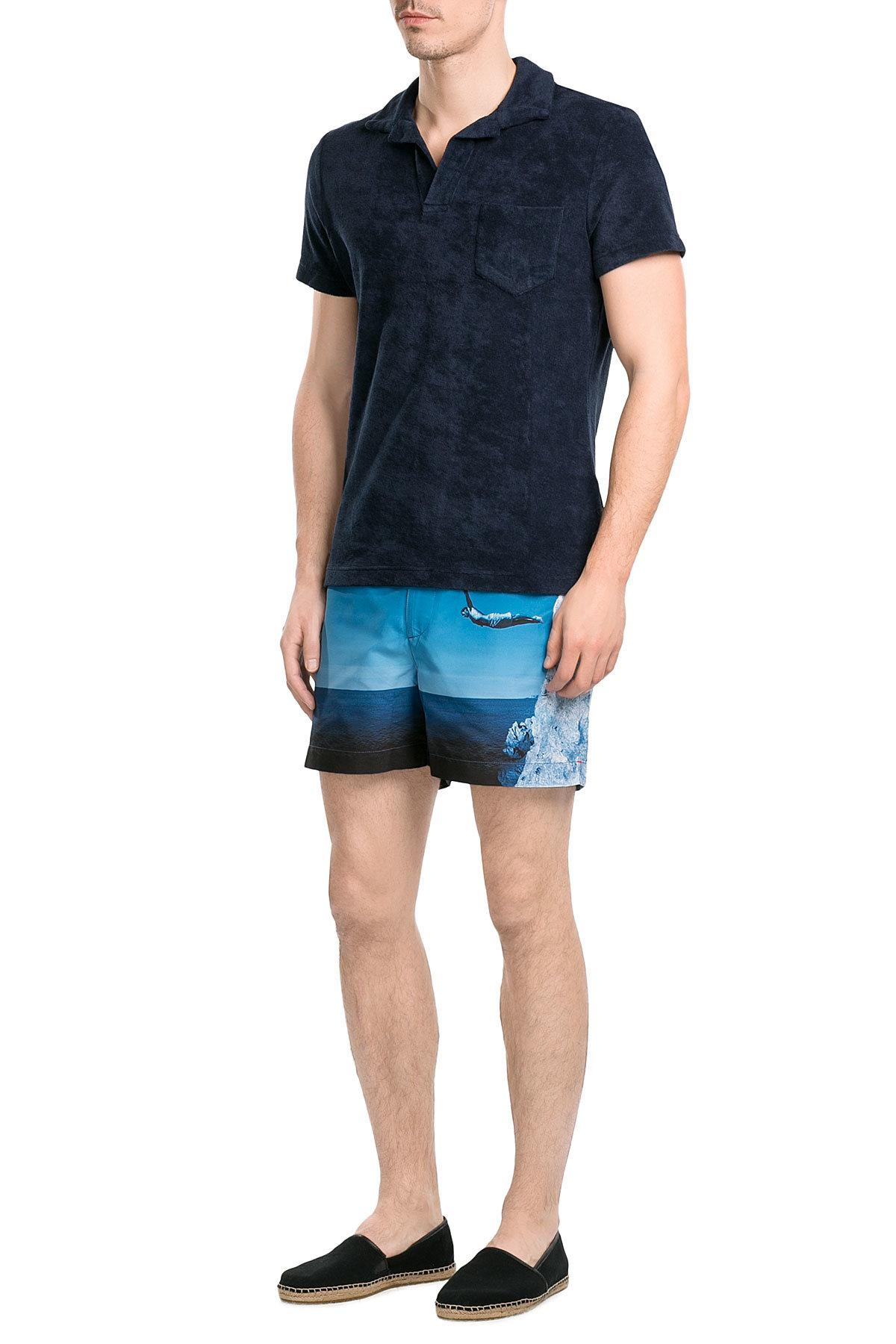 Orlebar brown Setter Printed Slim Swim Shorts in Blue for ...