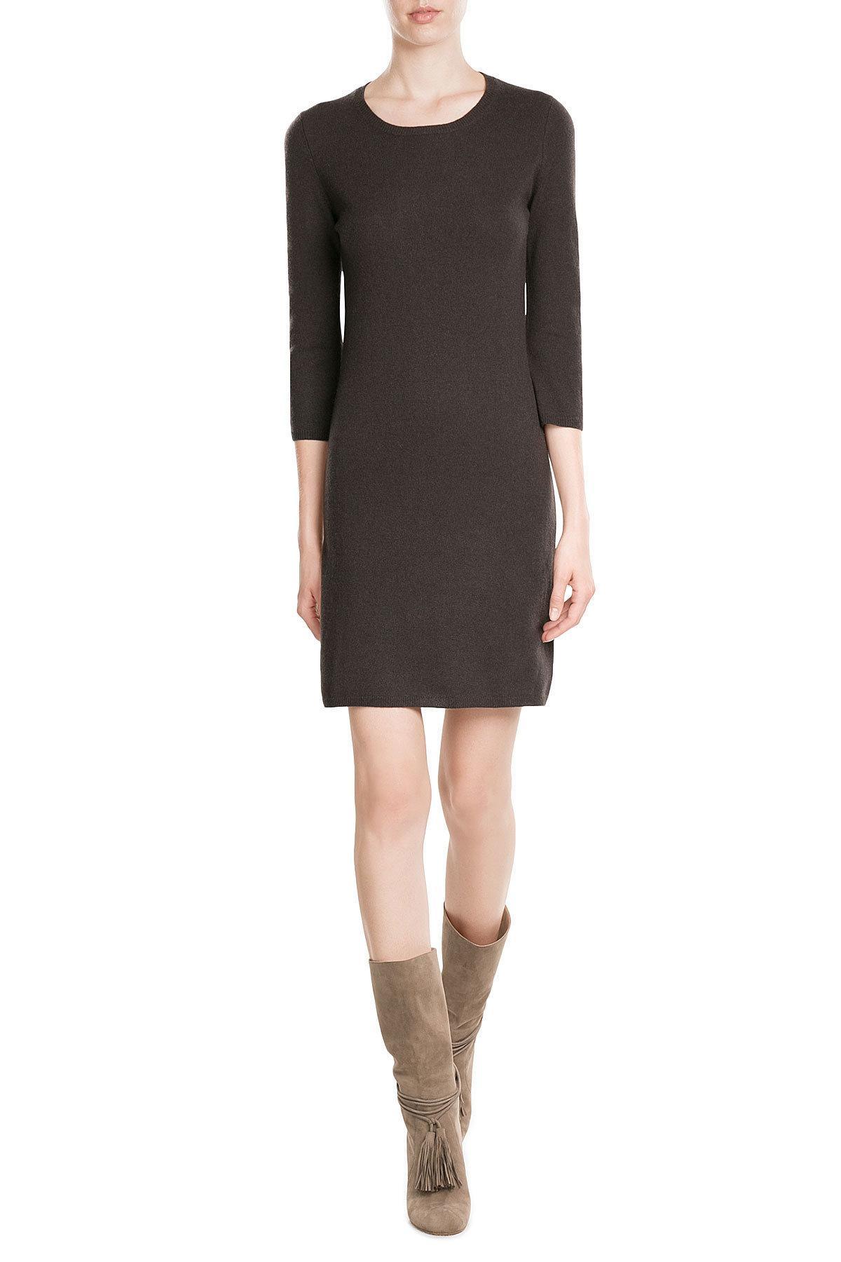 iris von arnim cashmere dress in black lyst. Black Bedroom Furniture Sets. Home Design Ideas