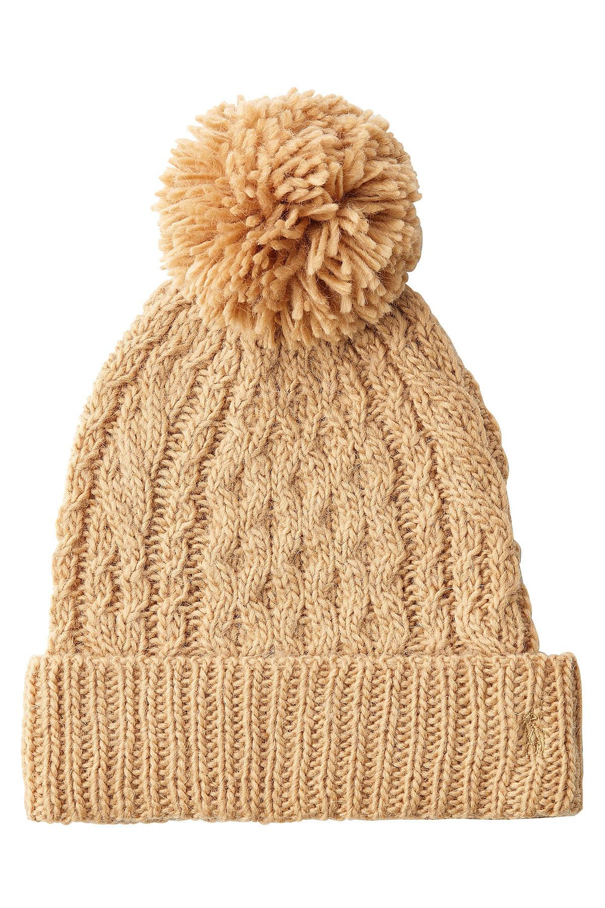 a32c566d Polo Ralph Lauren Hat With Wool And Alpaca in Natural - Lyst