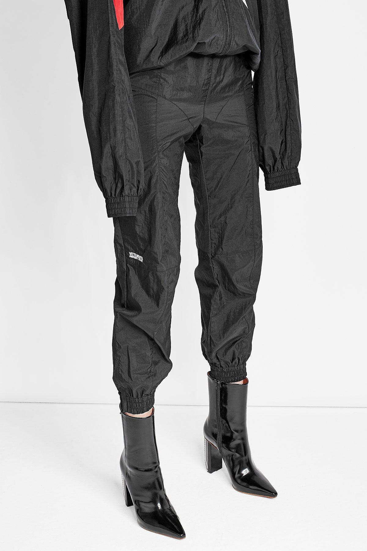 Lyst - Vetements X Reebok Cropped Track Pants In Black-2179