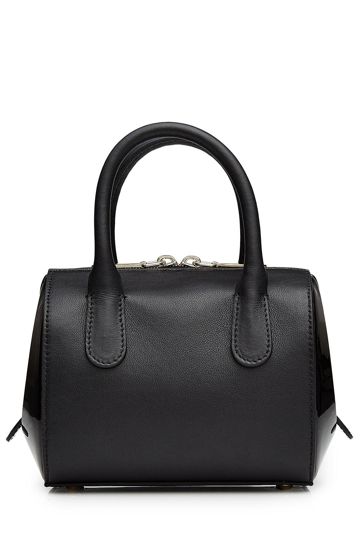 bf5bc3f863 Lyst - Nina Ricci Small Leather Tote in Black