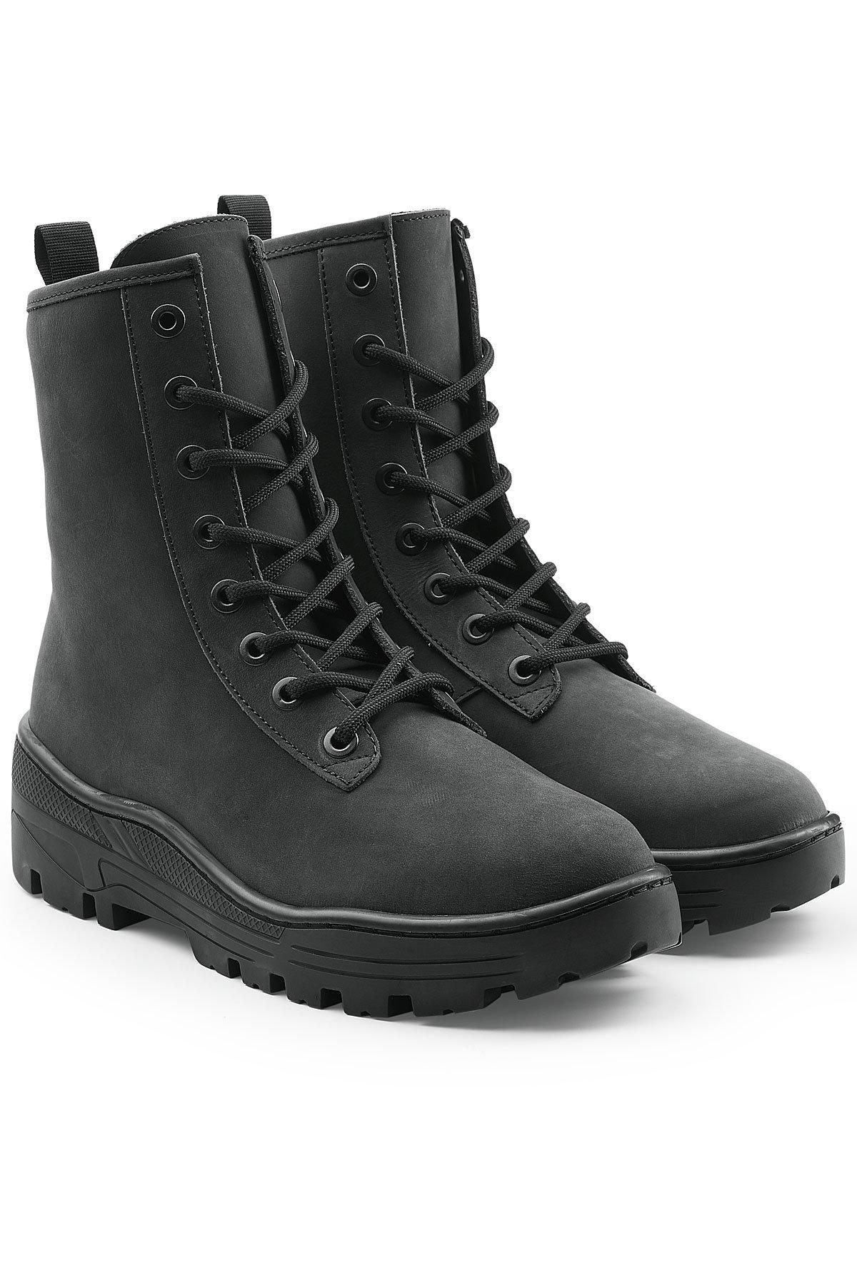 Lyst Black For Men Military Boots In Yeezy Nubuck pqSzUMV