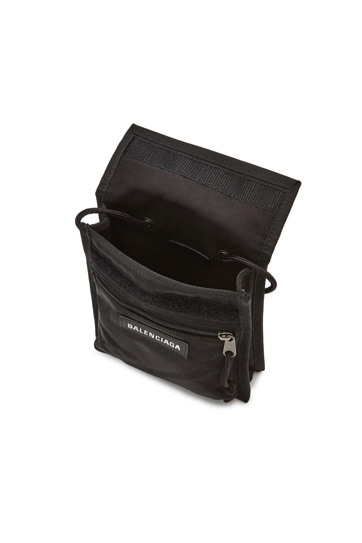 f7bb3df6ba Balenciaga Explorer Pouch Strap in Black for Men - Lyst