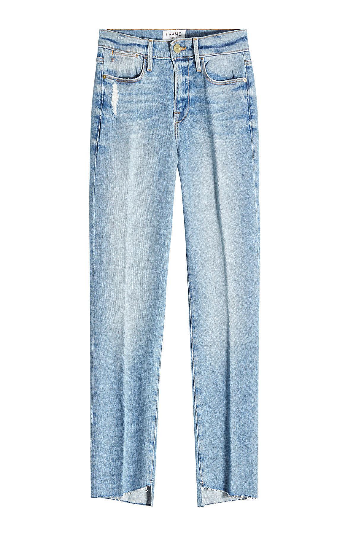 distressed straight leg jeans - Blue Frame Denim PmLEXvHHC5