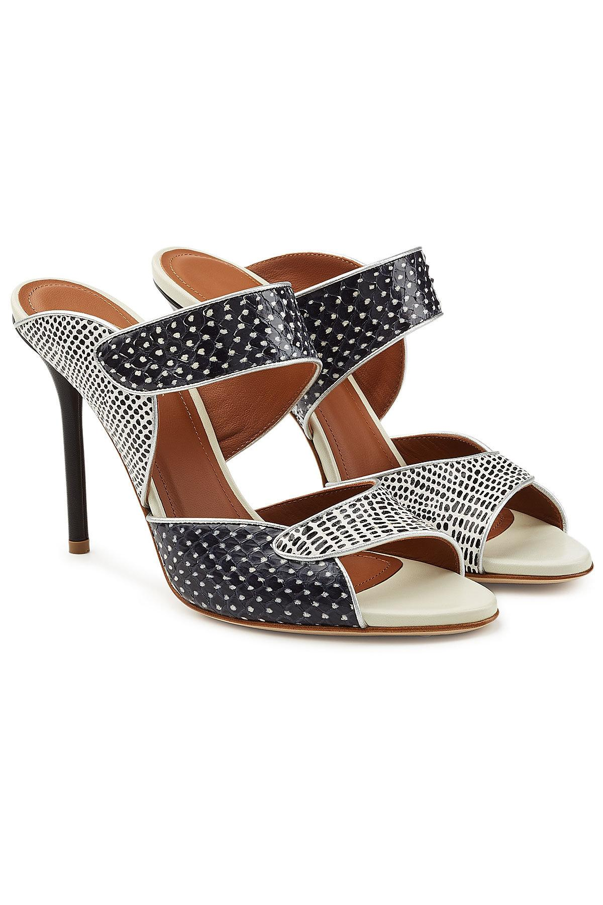 Lyst Malone Souliers Olivia High Snakeskin Mules