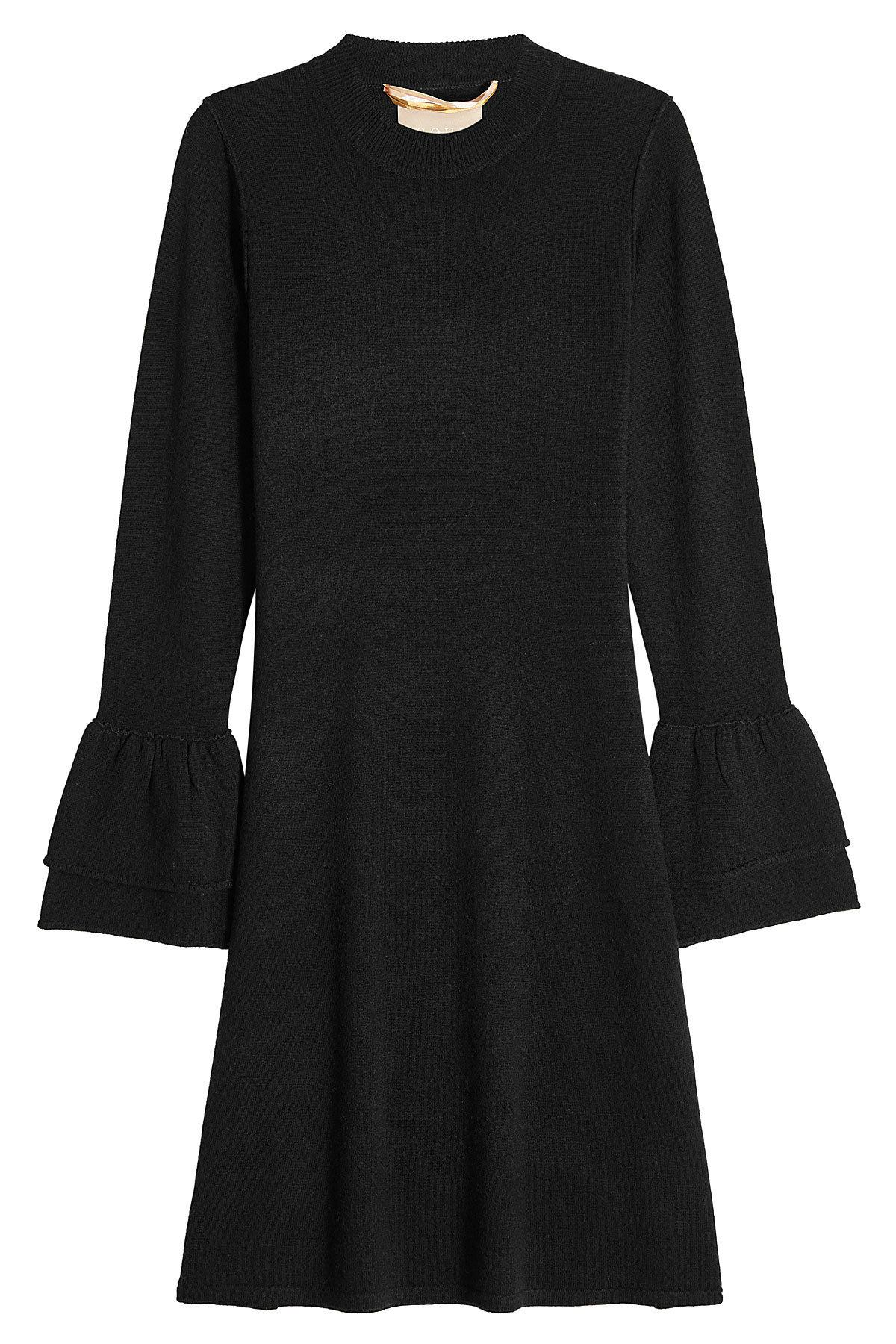 81Hours Hada Dress In Wool And Cashmere in Black - Lyst 4ac38bbf3