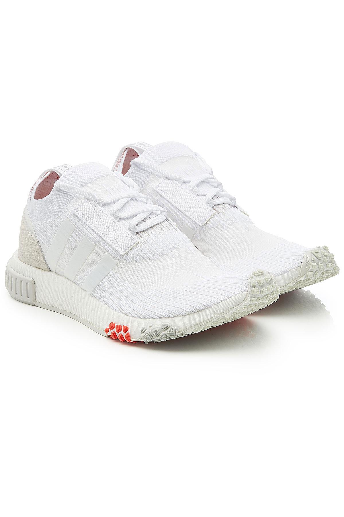 best authentic 617ab 9c54f adidas Originals. Womens White Nmd Racer Primeknit Sneakers