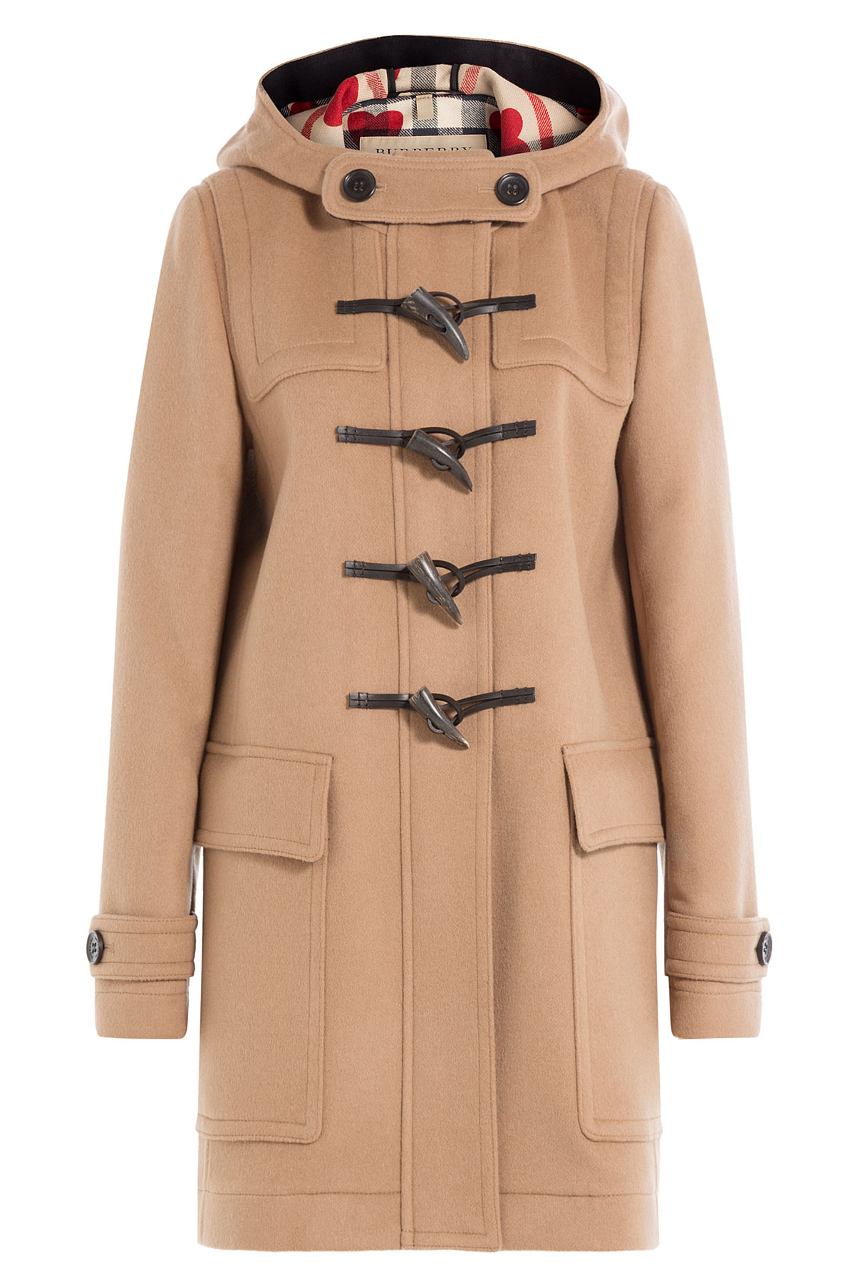 burberry wool duffle coat in natural lyst. Black Bedroom Furniture Sets. Home Design Ideas