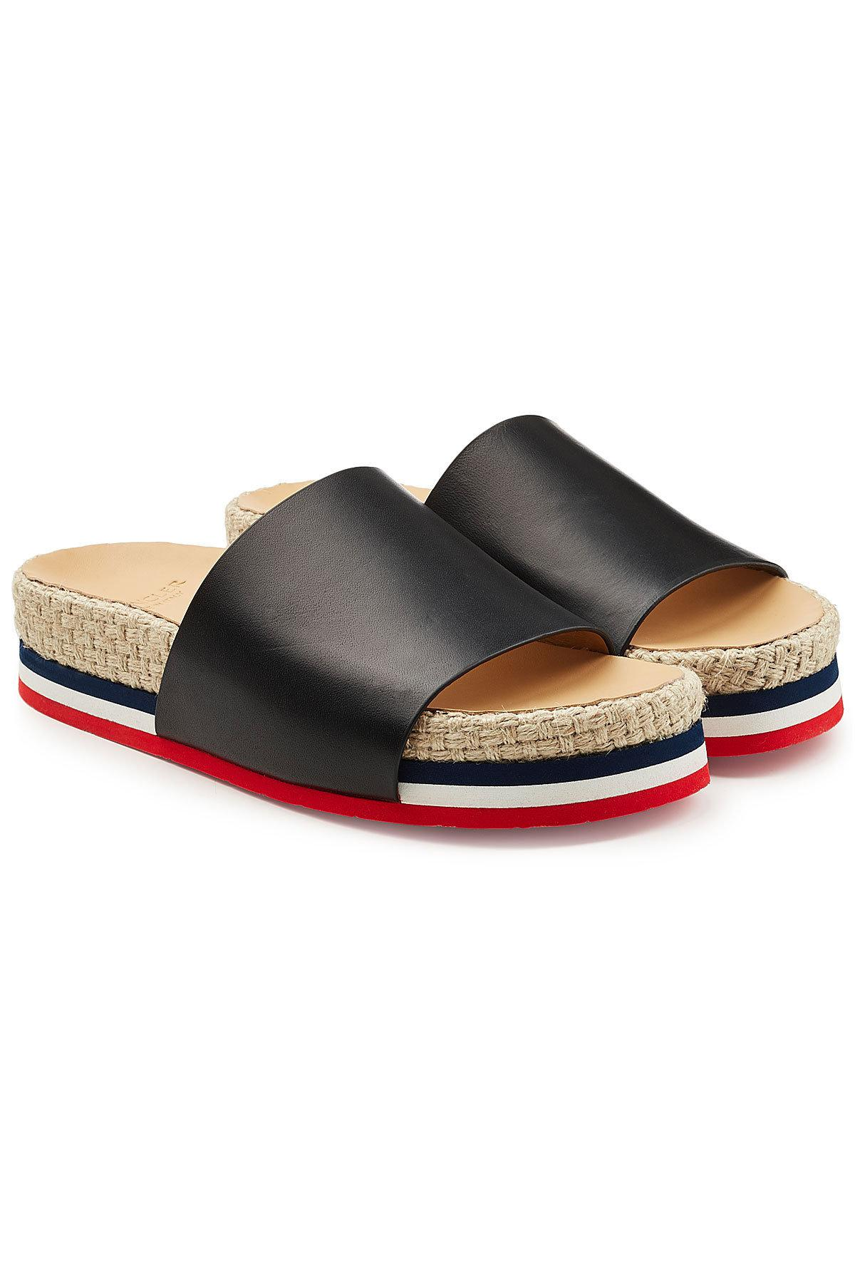 Pre-owned - Leather sandal Moncler A2Wl1g