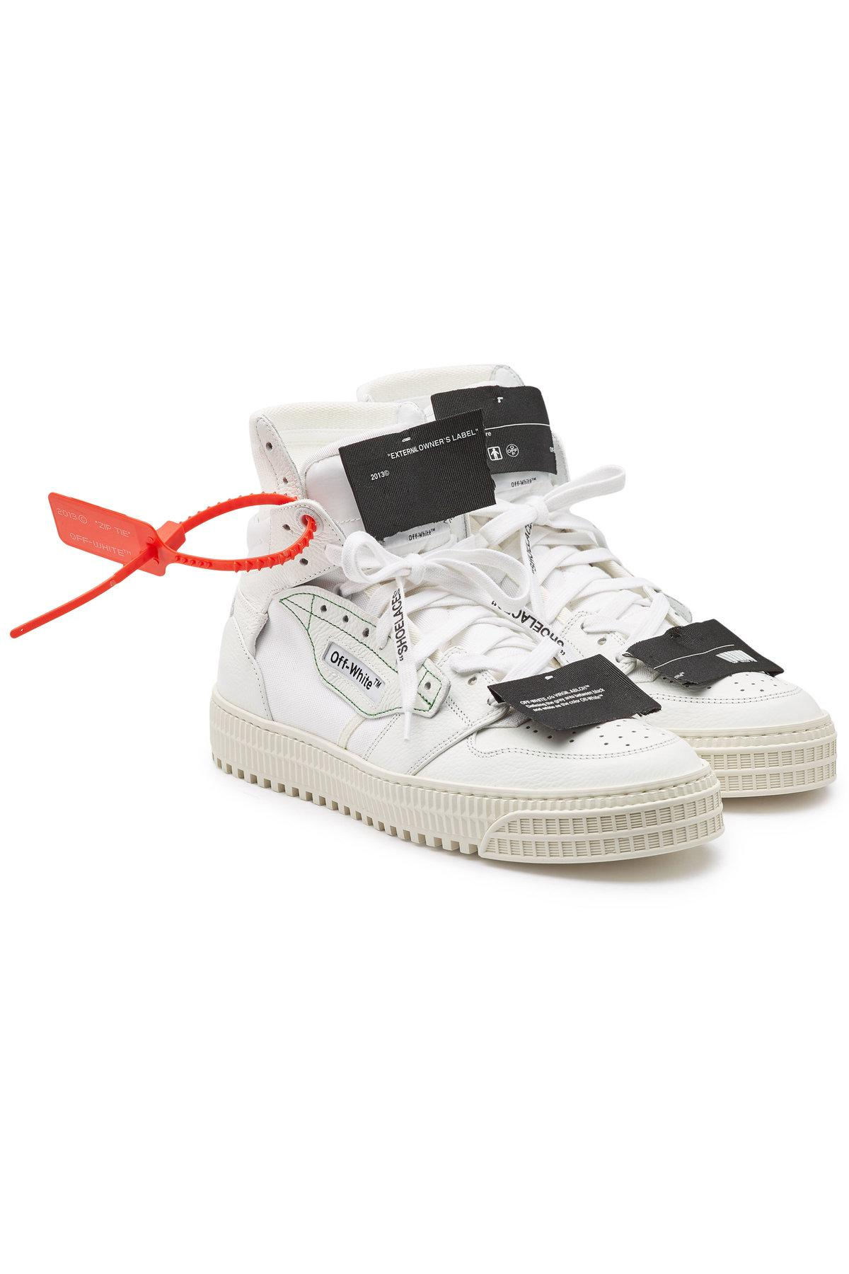 fafdd9b50b07 Lyst - Off-White c o Virgil Abloh Leather And Fabric Off Court ...