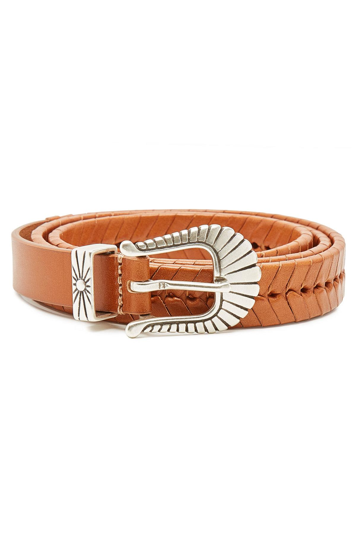 87a777074dfc Isabel Marant Jigoo Leather Belt in Brown - Lyst